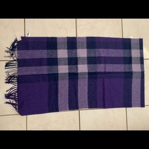 Purple Checkered Scarf